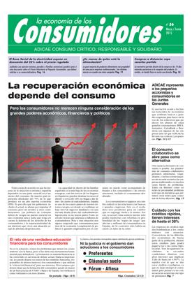 La recuperación económica depende del consumo